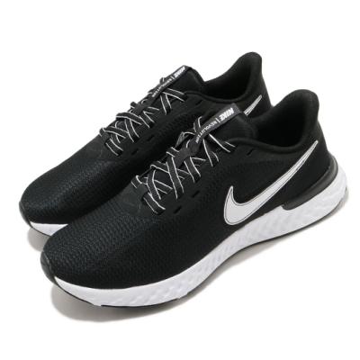 Nike 慢跑鞋 Revolution 5 EXT 運動 女鞋 輕量 透氣 舒適 避震 路跑 健身 黑 白 CZ8590001