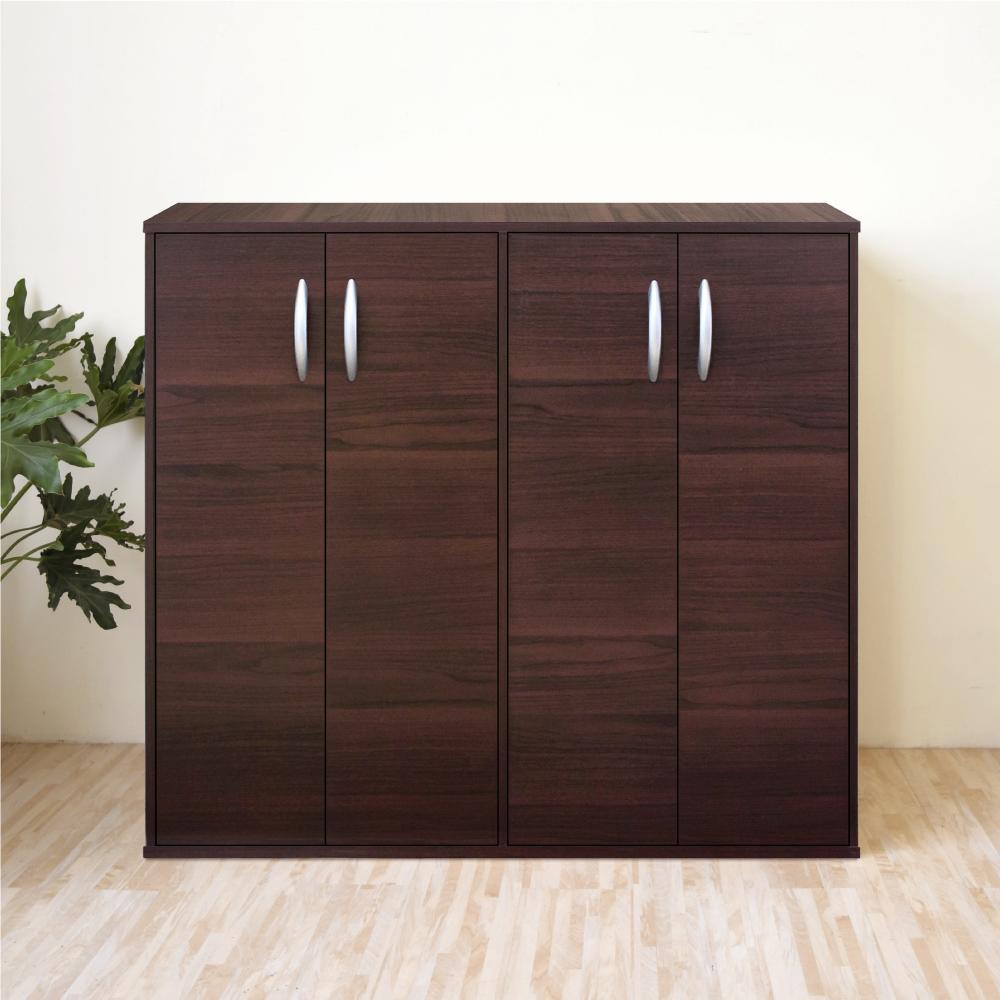 《HOPMA》DIY巧收組合式四門鞋櫃/收納櫃-寬90.1 x深30.3 x高81cm