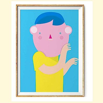 摩達客 西班牙知名插畫家Judy Kaufmann創作版畫掛畫-秘密02