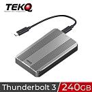 TEKQ 240G Rapide Thunderbolt 3 外接式SSD行動硬碟-太空灰