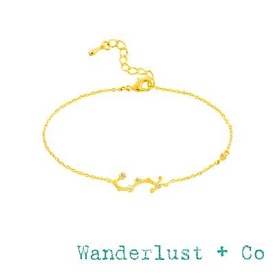 Wanderlust+Co 澳洲品牌 天蠍座手鍊 金色鑲鑽手鍊 SCORPIO