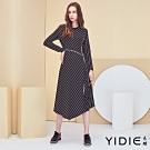 【YIDIE衣蝶】字母緞帶斜條紋長洋裝