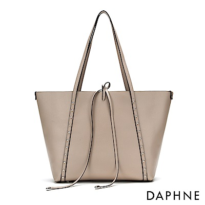 達芙妮DAPHNE-圓珠鉚釘子母托特包-杏