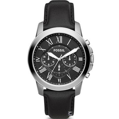 FOSSIL Grant 系列 羅馬時標計時腕錶(FS4812IE)44mm