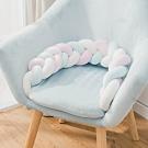 樂嫚妮 麻花辮抱枕 靠枕 趴枕 腰枕-白粉藍