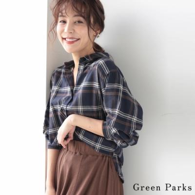 Green Parks 法蘭絨格紋襯衫