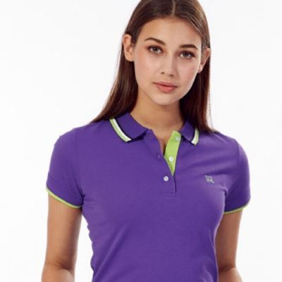 Abel Fox s Sports紫色綠邊女版短袖POLO衫-AFQ208-26
