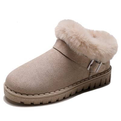 KEITH-WILL時尚鞋館-超有型自在穿搭絨毛保暖雪靴-米白