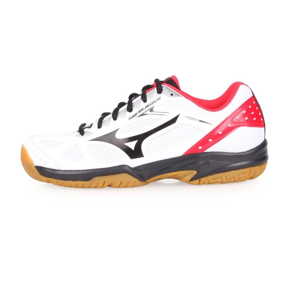 MIZUNO SKY BLASTER 男女羽球鞋-訓練 慢跑 羽球 白黑紅