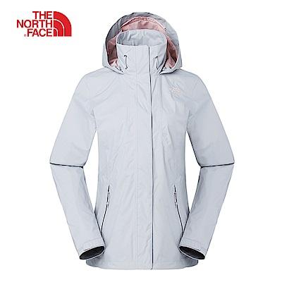 The North Face北面女款灰色防風防水衝鋒衣|3VPRA0M