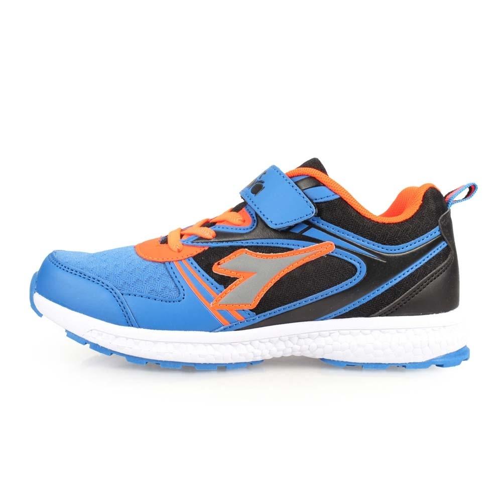 DIADORA 男女大童慢跑鞋-寬楦-路跑 藍橘黑