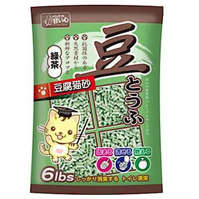 寵物甜心環保貓豆腐砂(綠茶)6lbsX3包組