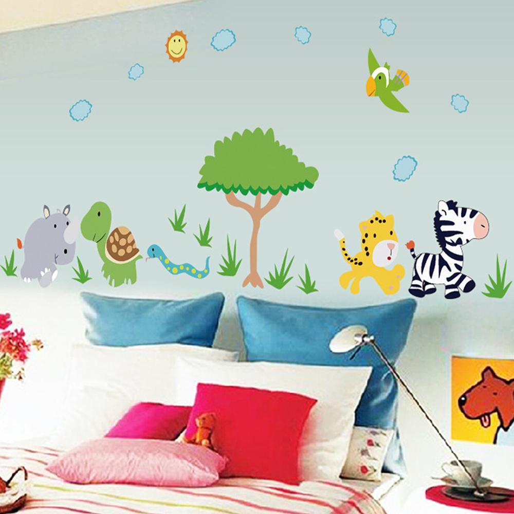 半島良品 DIY無痕壁貼-動物樂園 MJ8003 60x90cm