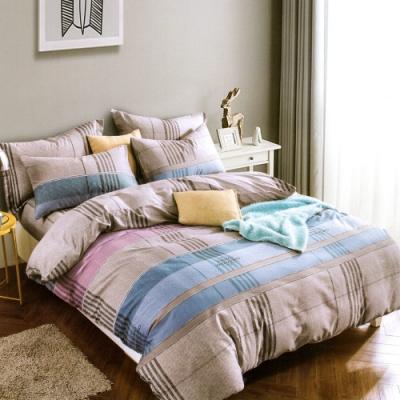3-HO 雪紡棉 單人床包/枕套 二件組 北歐藍調
