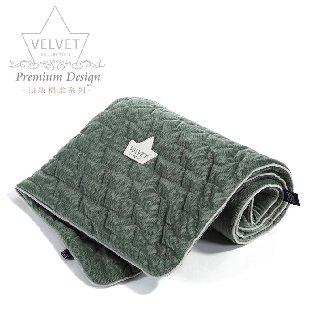 La Millou Velvet頂級棉柔系列-標準款暖膚毯80x100cm(舒柔墨綠)