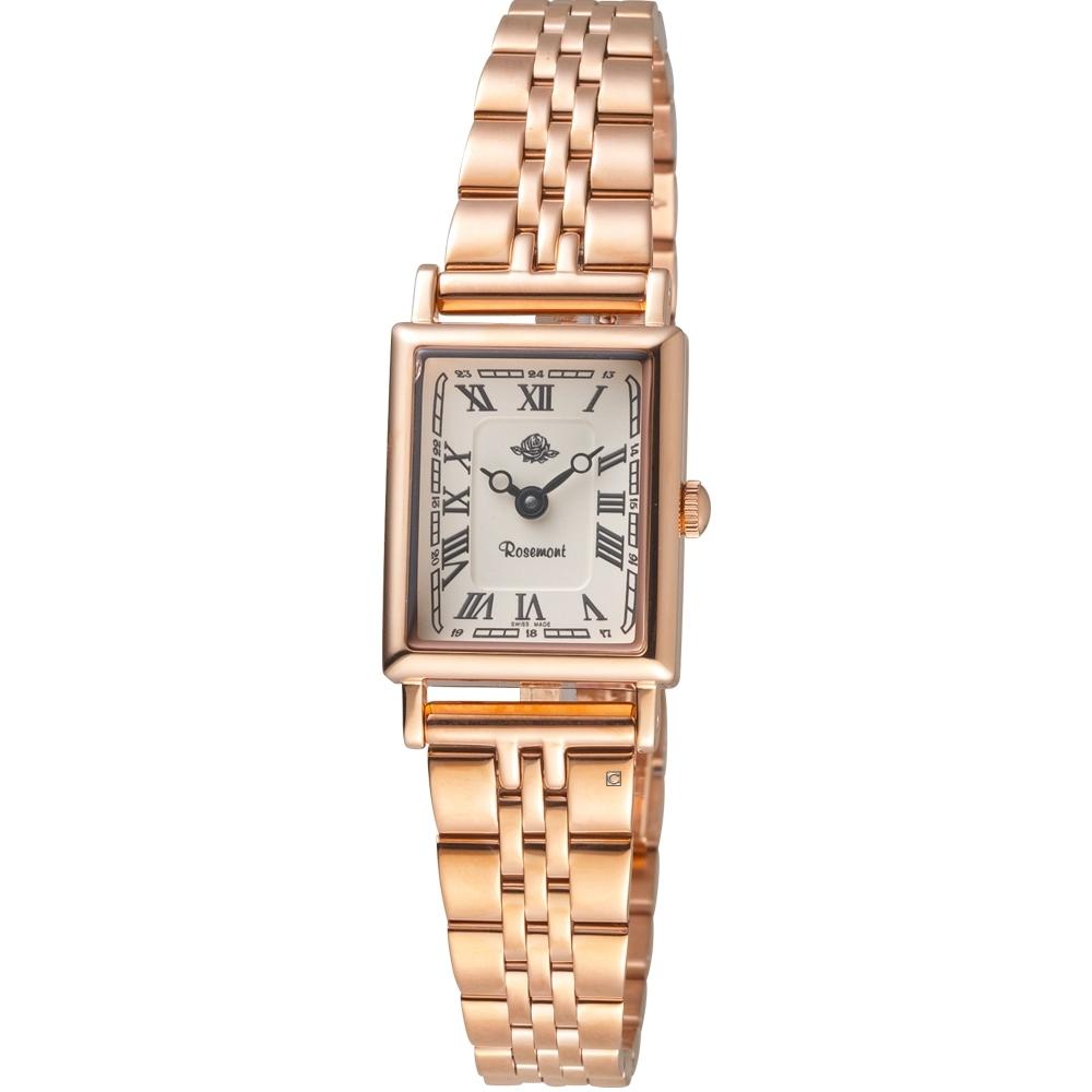 玫瑰錶Rosemont NS懷舊系列時尚古典腕錶 TNS012-RWR-SMT6(玫瑰金色)