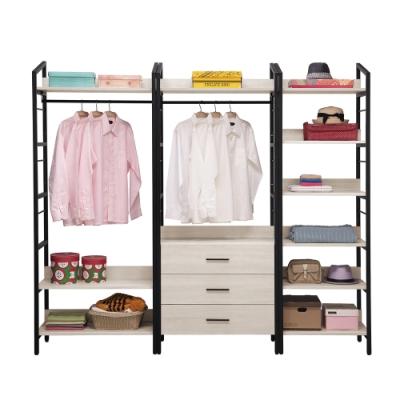 H&D 伊凡卡7.4尺鐵架衣櫃
