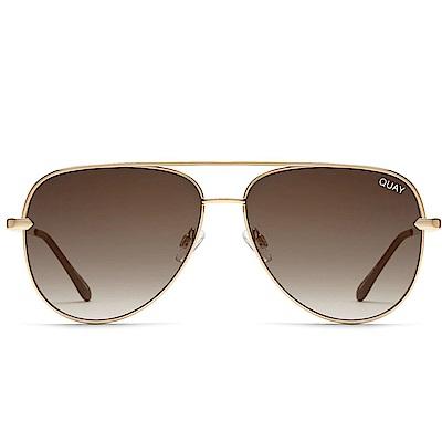 Quay Australia SAHARA 復古飛行員太陽眼鏡 (漸層古銅)