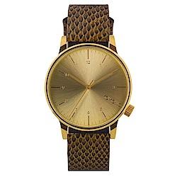 KOMONO Winston Monte Carlo 腕錶-棕色蜥蜴/41mm