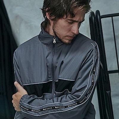 CACO-立領織條外套-情侶款(兩色)-男-【QNC017】