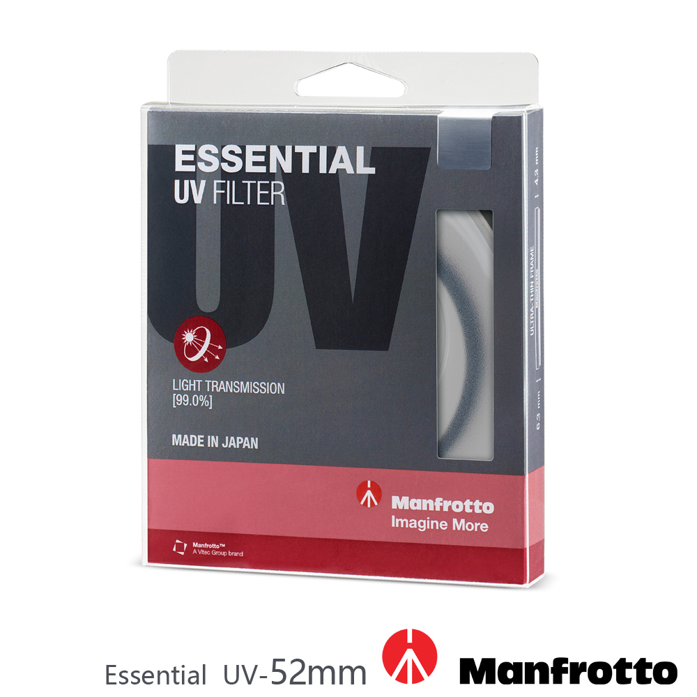 Manfrotto 52mm UV鏡 Essential 濾鏡系列 product image 1