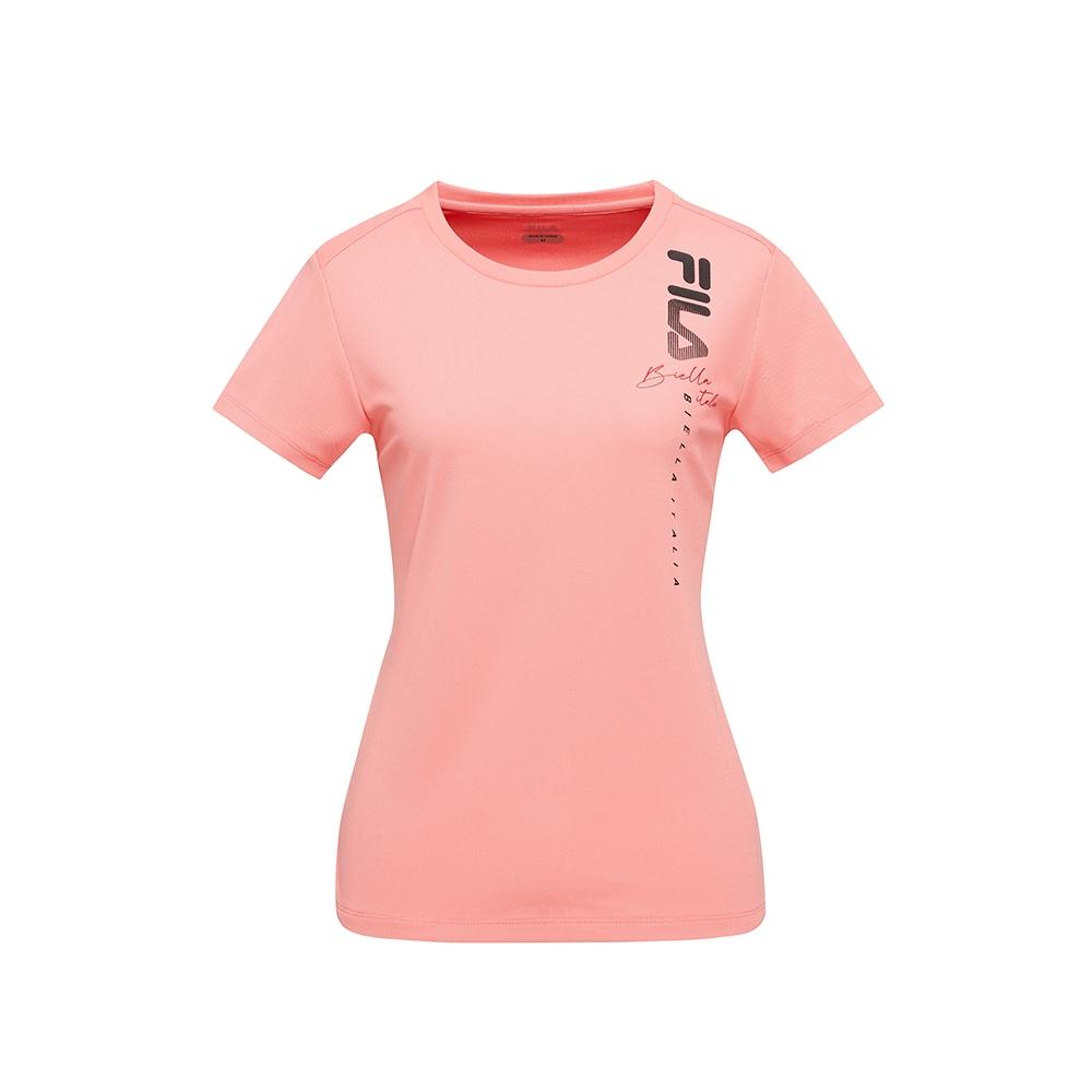 FILA 女吸排抗UV短袖T恤-粉桃 5TEV-5310-PC