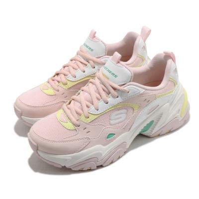 Skechers 休閒鞋 Stamina V2 厚底 女鞋 輕量 避震 緩衝 防滑 耐磨 修飾 粉 黃 149510PKMT