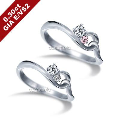 彩糖 GIA 30分鑽石 E/VS2 3EX 愛情9號線 鑽戒 (2選1)
