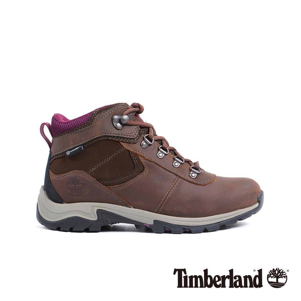 Timberland 女款咖啡色粒面皮革真皮防水靴 A1Q52 @ Y!購物