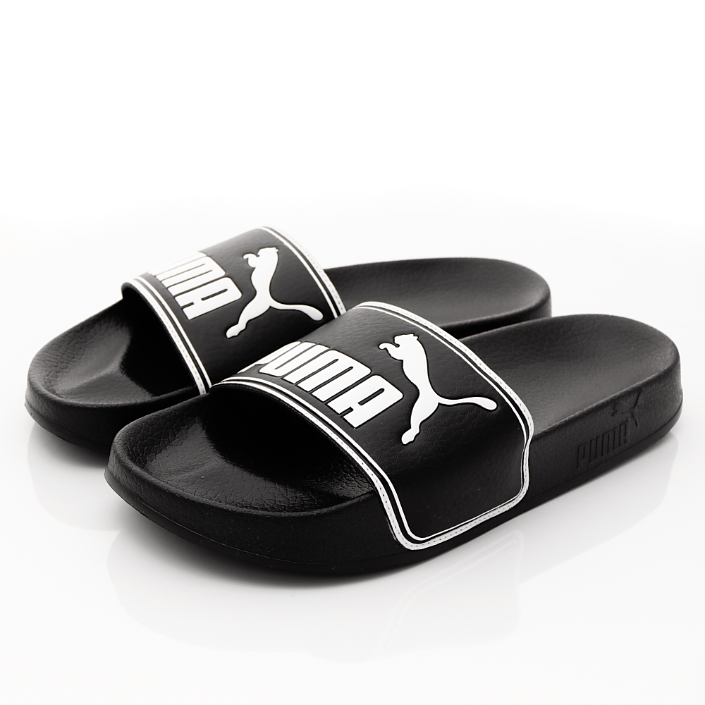 PUMA童鞋-超輕量止滑拖鞋款-60263-01黑(大童段)