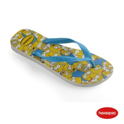 Havaianas 哈瓦仕 拖鞋 夾腳拖 人字拖 辛普森家族 巴西 男鞋 女鞋 白/藍綠色/白 4137889-7033U Simpsons