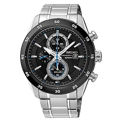 SEIKO 精工 CRITERIA登躍極致太陽能運動腕錶/V176-0AR0D/SSC53
