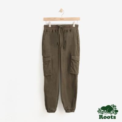 女裝Roots- 抽繩口袋休閒褲-綠