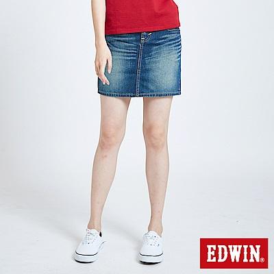 EDWIN MISS EDWIN503基本牛仔短裙-女-拔淺藍
