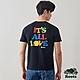Roots男裝-愛最大加拿大日系列 ALL LOVE短袖T恤-黑色 product thumbnail 1