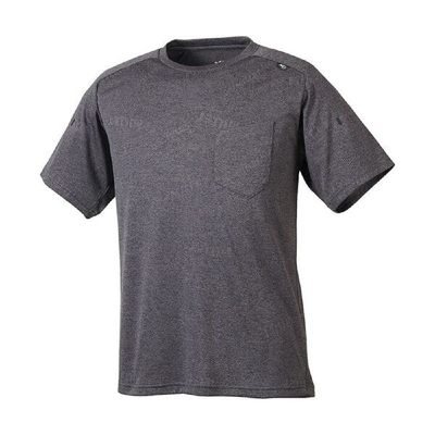 MILLET 男 JAQUARD MESH CREW 短袖排汗衣 黑灰-MIV017654003