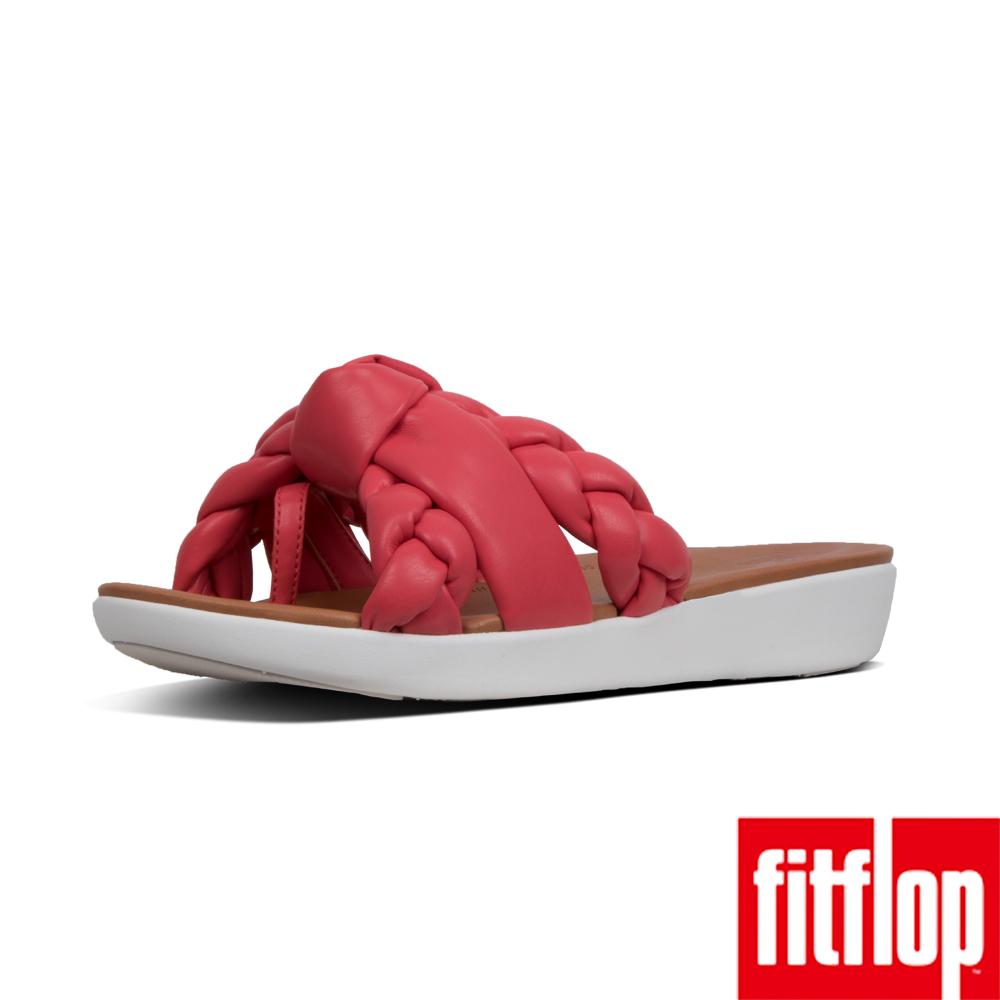 FitFlop BRAID METALLIC  TOE THONGS-熱情紅