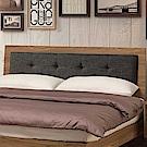 文創集 藍柏蒂時尚5尺棉麻布雙人床頭片(不含床底)-151x12x96cm免組