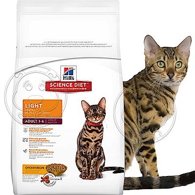 年終超殺Hills希爾思-成貓體重控制低卡雞肉配方-6kg13.22磅/包