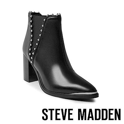 STEVE MADDEN-SM-HIMMER 個性真皮雀爾喜靴-黑色