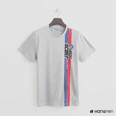 Hang Ten - 男裝 - 有機棉-有機棉-純色造型大logo棉T - 灰