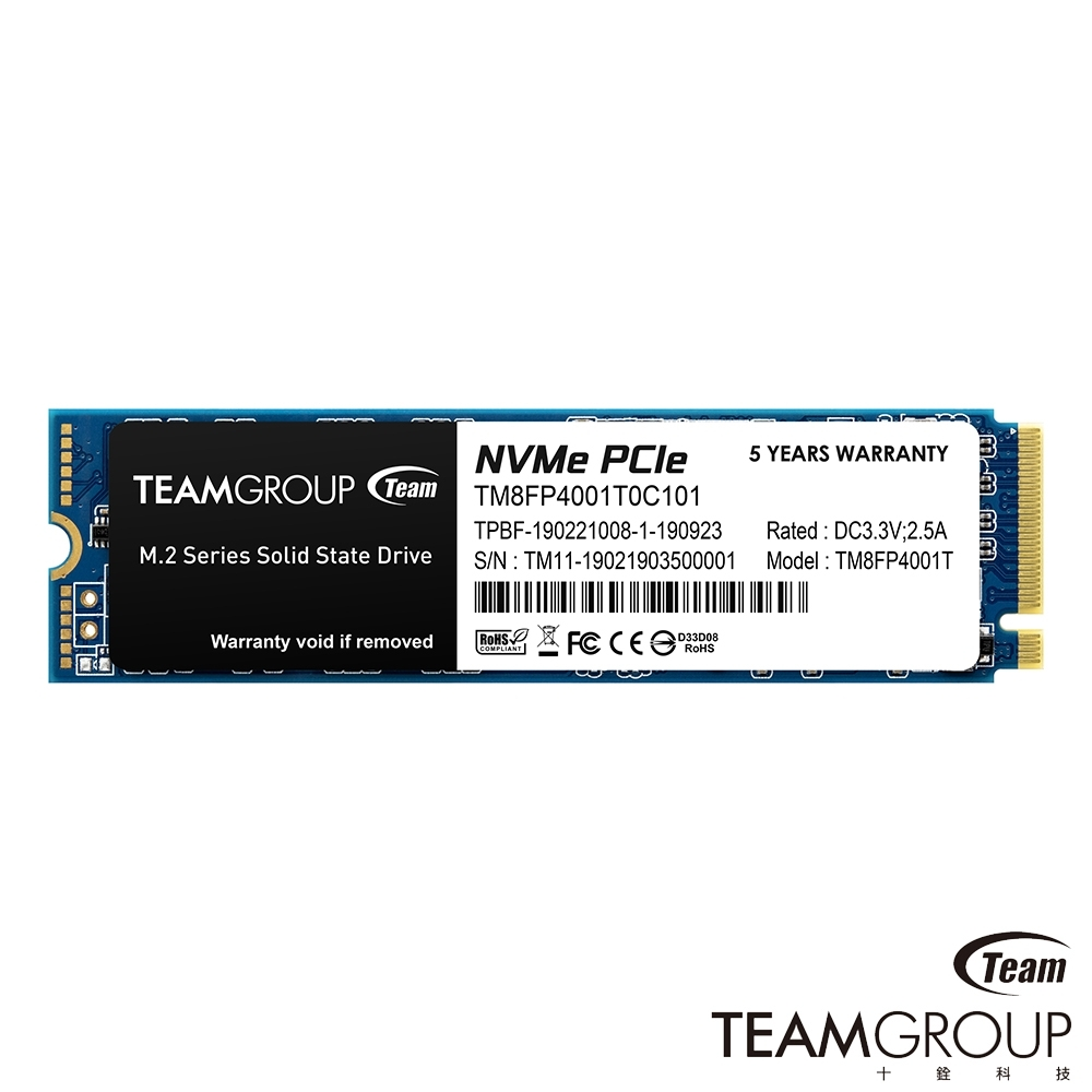 Team十銓 MP34 1TB M.2 NVMe PCIe 固態硬碟