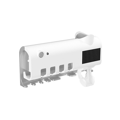 ANTIAN 智能紫外線殺菌牙刷架 USB充電式多功能牙刷消毒器 擠牙膏器 360度殺菌 壁掛牙刷置物架