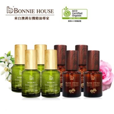 Bonnie House 超效感溫極光白青春絲絨蜜露60ml*4+玫瑰純露 60ml*4