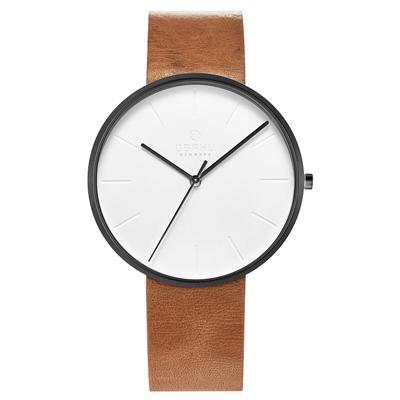 OBAKU 至臻奢華經典腕錶-淺棕色-V219GXBIRZ-39mm
