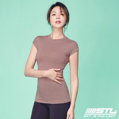 STL Essence Stretch Volume 韓國無肩線短袖機能素色上衣 本質伸展玫瑰