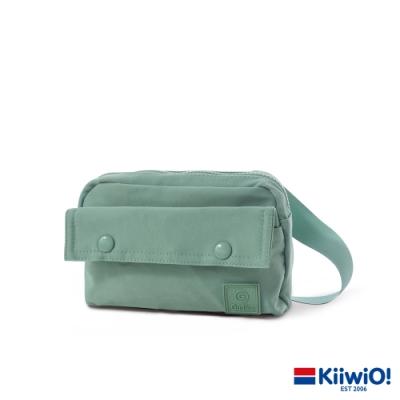 Kiiwi O! 純色防潑尼龍斜背/胸包 QUINCY 霧綠