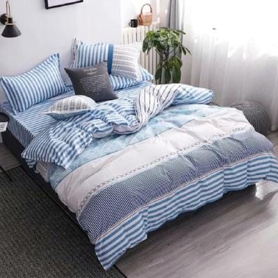 A-ONE 雪紡棉 單人床包/枕套 二件組-極北國度