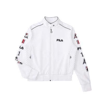 FILA 女吸濕排汗刷毛外套-白色 5JKU-5496-WT
