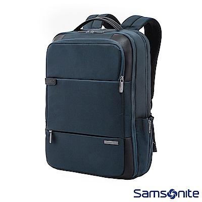 Samsonite新秀麗 Garde經典多功能夾層筆電後背包 15.6吋(海軍藍)